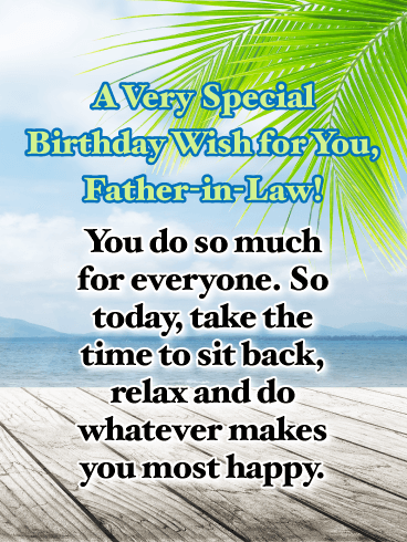 Time to Sit Back - Happy Birthday Card for Father-in-Law