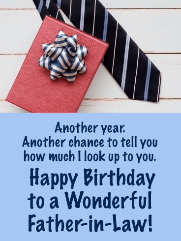 I Look Up To You! - Happy Birthday Card for Father-in-Law
