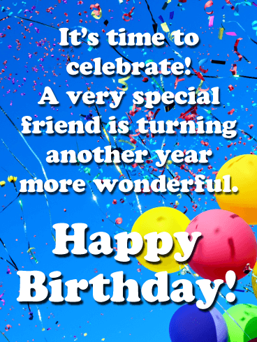 Unforgettable Celebration - Happy Birthday Card for Friends