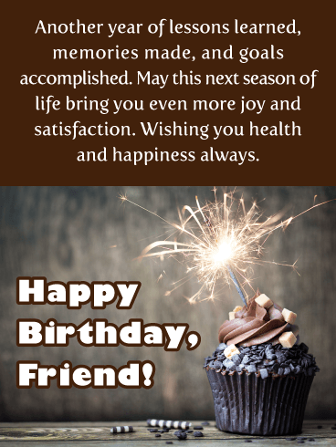 Dark Chocolate Dreams - Happy Birthday Wish Card for Friend