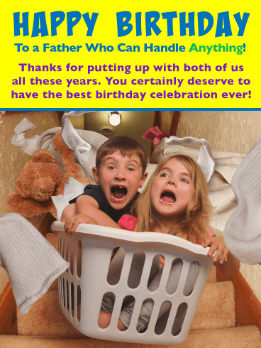 You Can Handle Anything! Happy Birthday Card for Father from Us