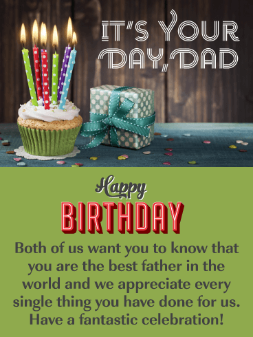We Appreciate You – Happy Birthday Card for Father from Us