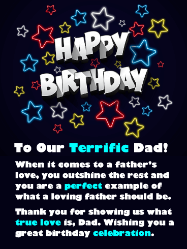 You Outshine the Rest! Happy Birthday Card for Father from Us