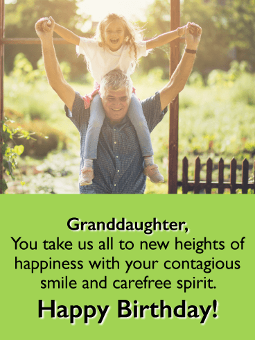 New Heights of Happiness - Happy Birthday Cards for Granddaughter