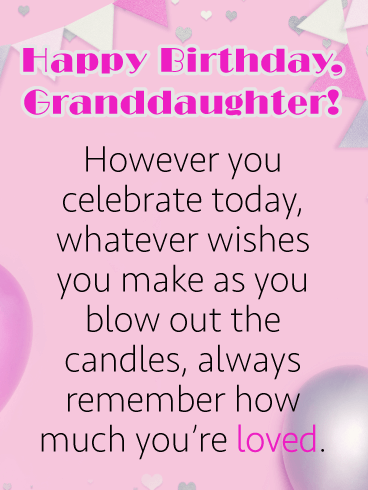Remember How Much You're Loved - Happy Birthday Cards for Granddaughter