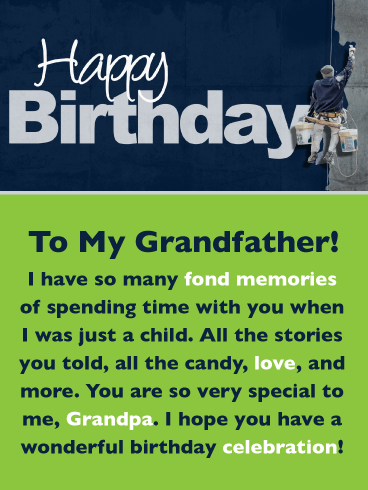 Many Fond Memories – Happy Birthday Card for Grandfather