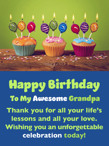 Creative Balloon Candles – Happy Birthday Card for Grandfather