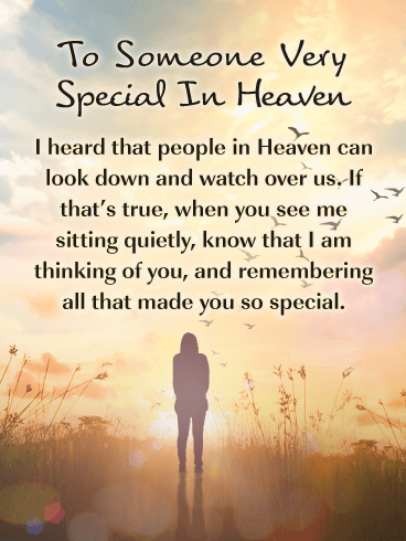 Thinking of You – Happy Birthday Card for Everyone in Heaven
