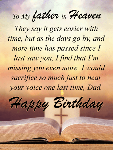 Hearing Your Voice – Happy Birthday Card for Father Heaven