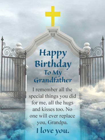 No One Will Ever Replace You – Happy Birthday Card for Grandfather in Heaven