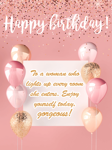 Gorgeous Glitter- Happy Birthday Card for Her