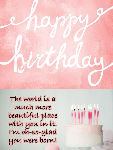 Glad You Were Born- Happy Birthday Card for Her