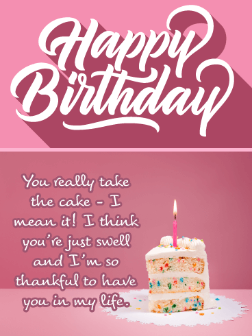 Take the Cake - Happy Birthday Card for Her