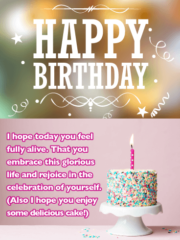 Celebration of Yourself - Happy Birthday Card for Her