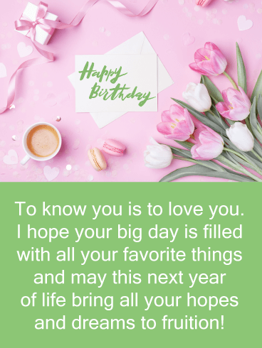 A Few of Your Favorite Things - Happy Birthday Card for Her