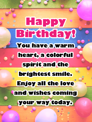 Enjoy all the Love and Wishes - Happy Birthday Card for Her