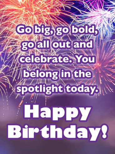 Go Big, Go Bold! - Happy Birthday Card for Her