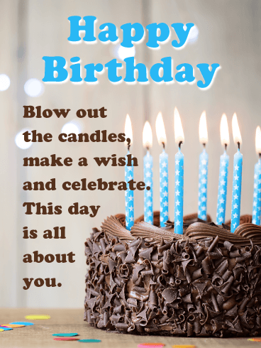 This Day Is All About You Happy Birthday Card For Him Birthday Greeting Cards By Davia