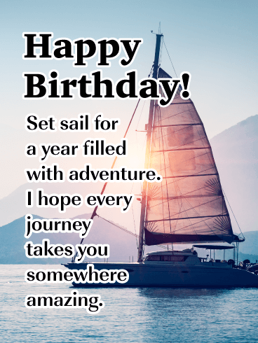 A New Adventure to Begin! - Happy Birthday Card for Him