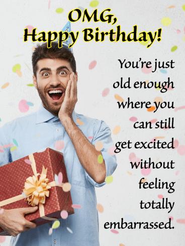 OMG Day! - Funny Birthday Card for Him | Birthday & Greeting Cards