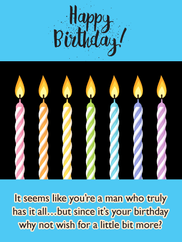One More Wish - Happy Birthday Card for Him