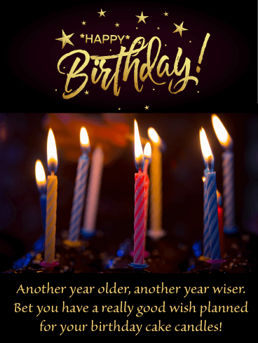 Older and Wiser - Happy Birthday Card for Him