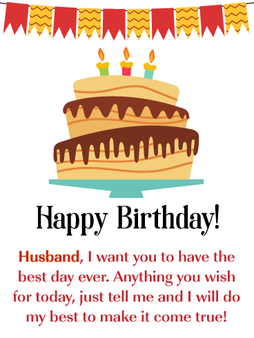 Make Your Wishes Come True - Happy Birthday Card for Husband