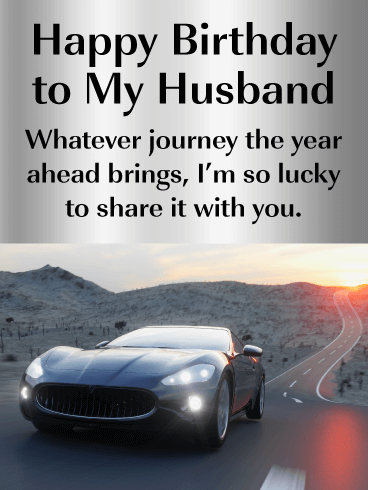 Lucky to Share with You - Happy Birthday Wishes Card for Husband