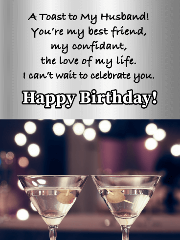 Best Friend, Confidant, and the Love - Happy Birthday Wishes Card for Husband