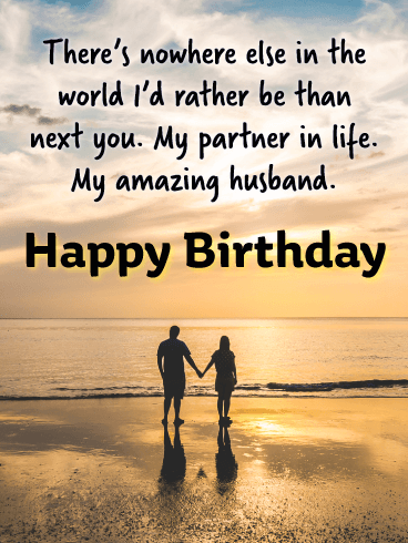 Next You - Happy Birthday Wishes Card for Husband