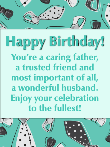Enjoy  to the Fullest - Happy Birthday Wishes Card for Husband