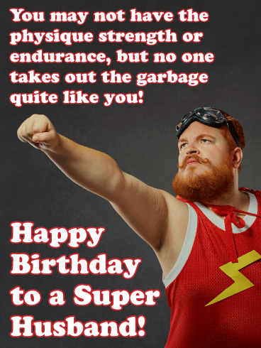 Super Husband! - Happy Birthday Wishes Card for Husband