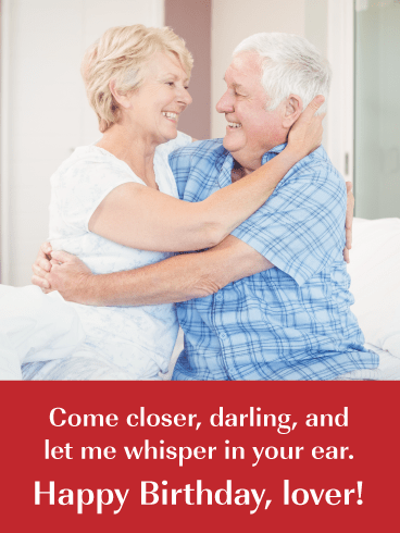 Whisper Sweet Nothings- Romantic Birthday Card for Husband