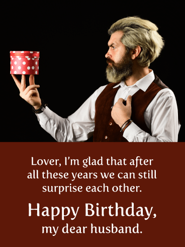 Still Surprised- Romantic Birthday Card for Husband