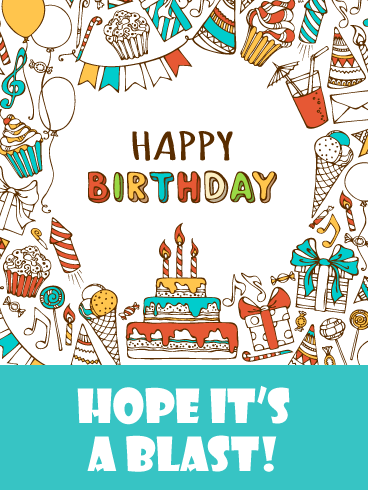 Hope It's a Blast - Happy Birthday Card for Boys