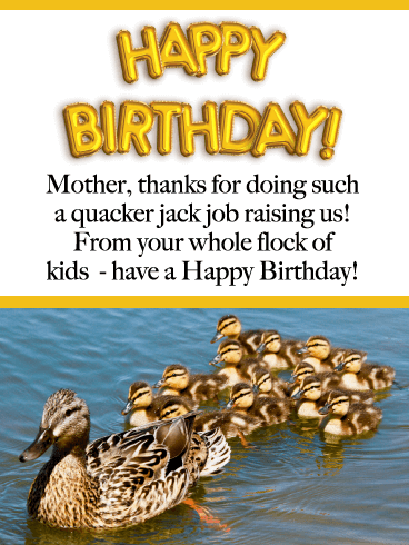 You Quack Me Up- Funny Birthday Card for Mother from Us