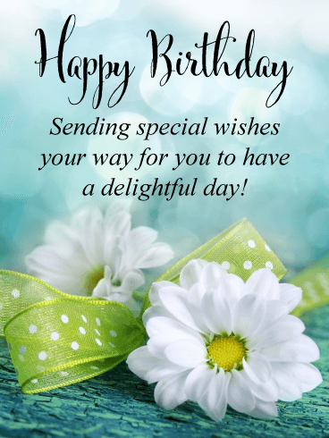 Lovely Flowers - Happy Birthday Card
