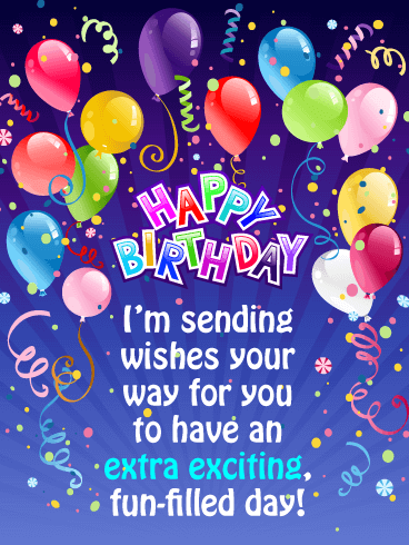 Fun-Filled Day - Happy Birthday Card