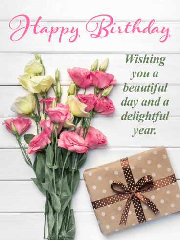 Fabulous Flowers - Happy Birthday Card