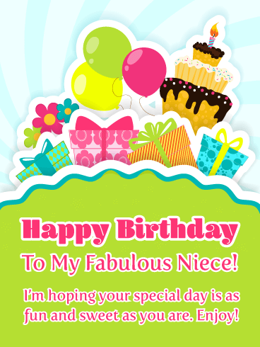 You're Fabulous! - Happy Birthday Card for Niece