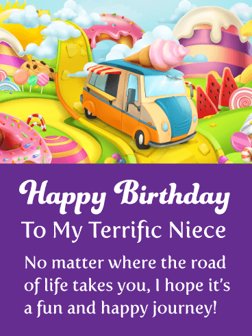 A Fun Journey - Happy Birthday Card for Niece