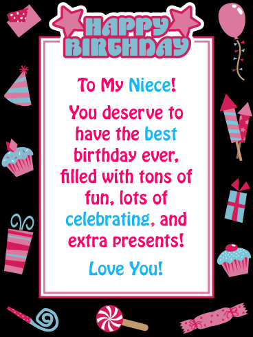 Lots of Celebrating! - Happy Birthday Card for Niece