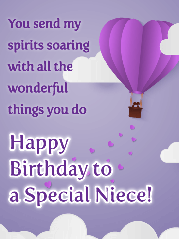 Soaring Spirits -  Happy Birthday Card for Niece