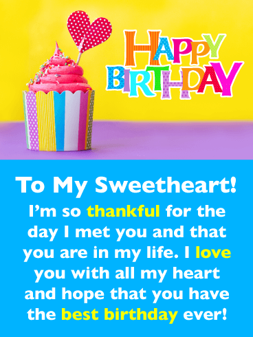 Thankful for You – Romantic Happy Birthday Card for Him