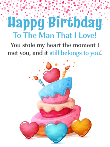 You Stole My Heart – Romantic Happy Birthday Card for Him