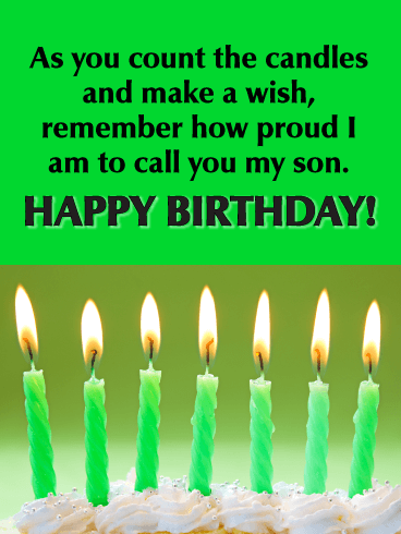 Proud to Call You My Son - Happy Birthday Cards for Son from Father