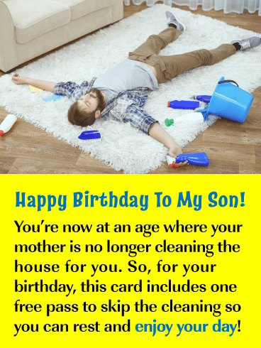 Your Day to Relax – Happy Birthday Card for Son from Mother