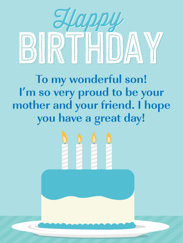 So Proud! Happy Birthday Card for Son from Mother