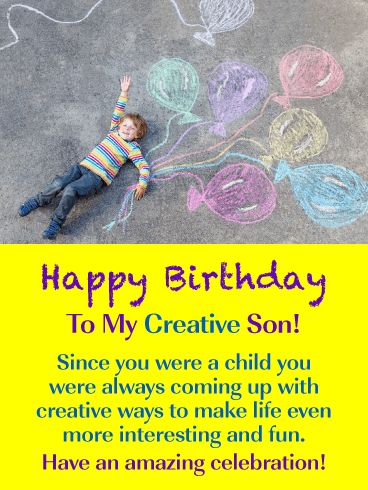 Creative & Fun – Happy Birthday Card for Son from Mother
