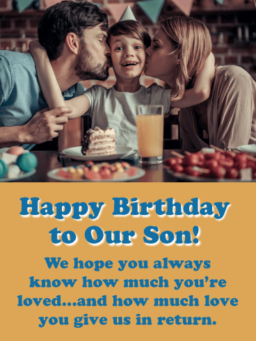 Remember how much You're Loved - Happy Birthday Card for Son from Parents